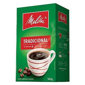 Café Vácuo Melitta Tradicional 500g