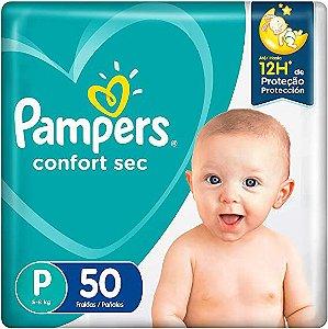 Fralda Pampers Confort Sec Tam P (5-8 Kg) 50 Fraldas