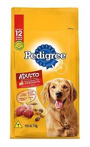 Ração para Cachorro Adulto sabor Carne, Frango e Cereais - Pedigree 1 Kg