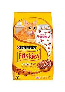Ração Gato Adulto Castrado sabor Mega Mix Friskies Purina 1Kg