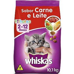 Ração Gato Filhote de 2-12 Meses sabor Carne e Leite Whiskas 500g