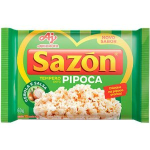 Tempero Pronto Para Pipoca Sazón 60g com 12 env. de 5g cada