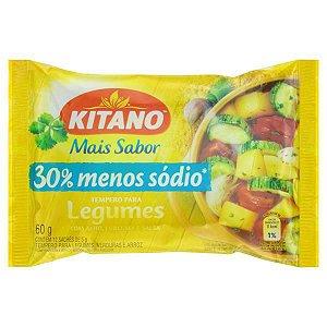 Tempero Pronto para Legumes Kitano 30% Menos Sódio 60g com 12 env. de 5g cada
