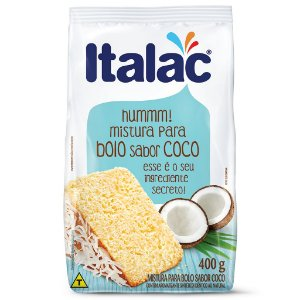 Mistura de Bolo Sabor Coco Italac 400g