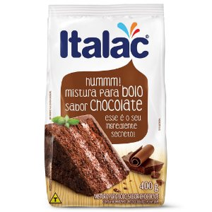 Mistura de Bolo Sabor Chocolate Italac 400g