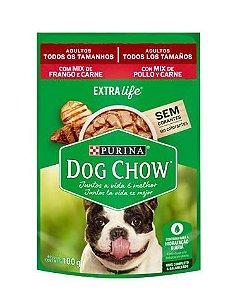 Sachê Sabor Frango e Carne ao Molho Dog Chow Purina 100g