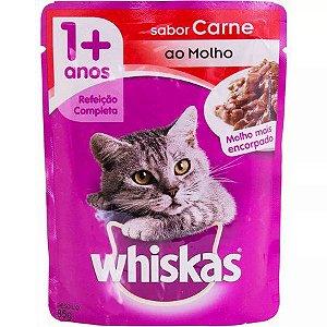 Sachê Sabor Carne ao Molho Whiskas 85g
