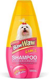 Shampoo e Condicionador 2 em 1 Premium BawWaw 500ml
