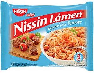 Miojo Nissin Lámen Sabor Carne com Tomate 80g