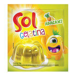 Gelatina Sol sabor Abacaxi 25g