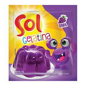 Gelatina Sol sabor Uva 25g