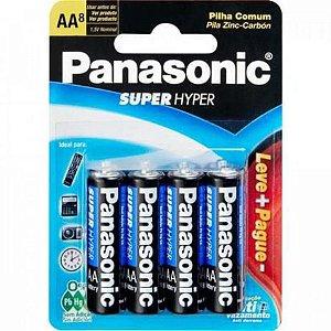 Pilha Panassonic AA Leve + Pague - com 8 Unid