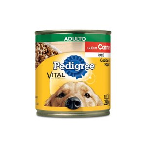 Latinhas/ Ração/ Patê para Cachorro sabor Carne Pedigree - Adulto 280g