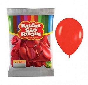 Balões Vermelho Quente São Roque nº7 embalagem com 50 unid