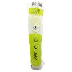 Copo Descartável Branco Kerocopo 200ml embalagem com 100 copos