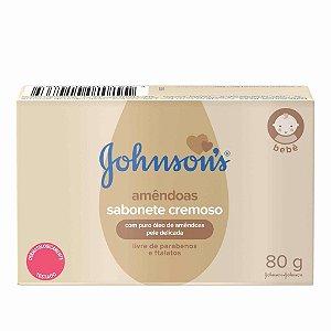 Sabonete Baby Original Sabonete Cremoso Amêndoas com Puro Óleo de Amêndoas Pele Delicada Johnson´s 80g