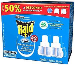Inseticida Raid 45 Noites Refil 32,9ml