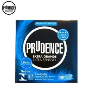 Preservativos Lubrificados Prudence Ultra Sensível Extra Grande c/ 1 unid