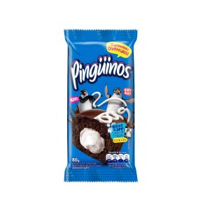 Bolinho Pingüinos Chocolate Recheio Baunilha 80g