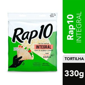 Pão Tipo Tortilha Rap 10 Integral 330g