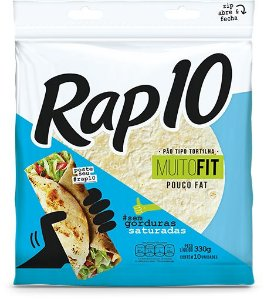 Pão Tipo Tortilha Rap 10 Fit 330g