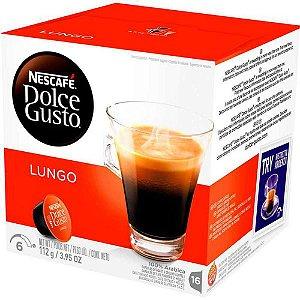 Café Em Cápsula Dulce Gusto Nescafé Lungo 112g