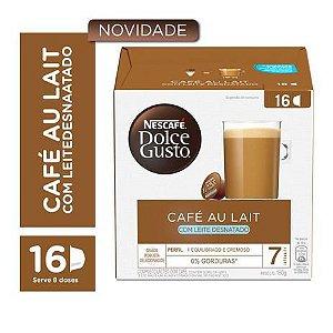 Café Em Cápsula Dolce Gusto  Nescafé Café Au Lait Com Leite Desnatado 160g