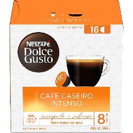 Café Em Cápsula Dulce Gusto Nescafé Caseiro Intenso 8 144g