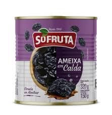 Ameixa em Calda Só Fruta 320g / 150g Drenado