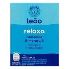Chá Leão Relaxa Camomila & Maracujá 16g