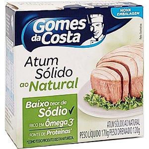 Atum Solido Natural 170g  Baixo Teor De Sódio Gomes da Costa