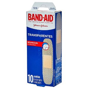 Band-Aid Transparente Johnson e Johnson 10un