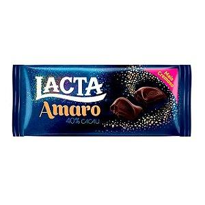 Barra de Chocolate Lacta Amaro 40% Cacau 90g