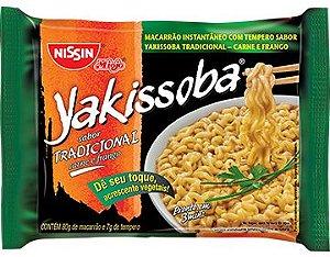 Miojo Nissin Sabor Tradicional Carne e Frango Yakissoba 80g