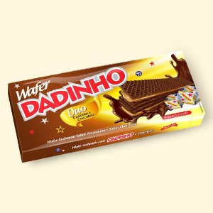 Biscoito Dadinho Wafer Duo Chocolate 130g