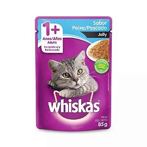 Ração Úmida Whiskas Sachê Peixe Jelly para Gatos Adultos - 85g