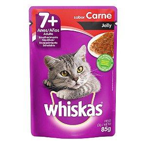 Whiskas Sache Jelly Adulto 7 Carne 85G