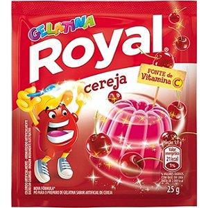 Gelatina em Pó Cereja Royal Pacote 25g