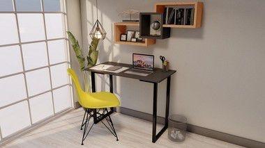Escrivaninha Para Estudo Preto MDF 100x50 cm