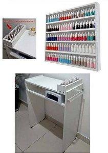 KIT Mesa P/ Manicure+expositor+compartimento de esmaltes