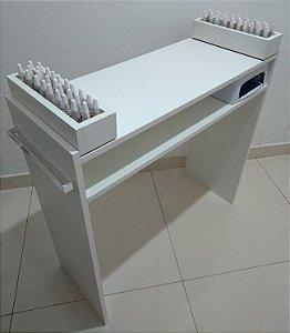 Mesa P/ Manicure C/ 2 Compartimentos P/Esmaltes 100%mdf