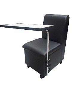 Cirandinha Cadeira Para manicure Preta Factor COM GAVETA