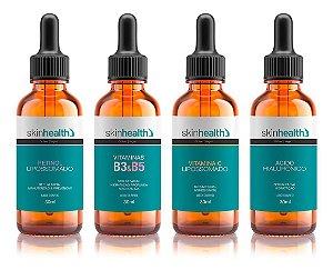 Kit Tratamento 4 Sérum Antissinais Retinol + B3 e B5 + Vitamina C + Ácido Hialurônico