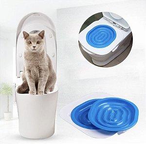 Kit para treinamento de gatos para uso de vaso sanitário