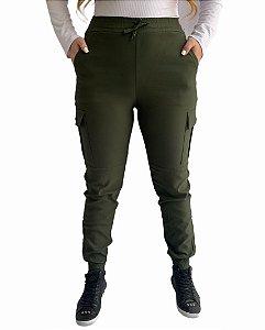 Calça Jogger Cargo Verde Militar