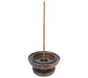 Incensário / Castiçal de Pedra - 9,5cm