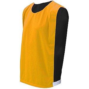 Colete de Futebol Dupla Face Amarelo com Preto
