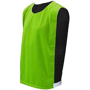 Colete de Futebol Dupla Face Verde Limão com Preto