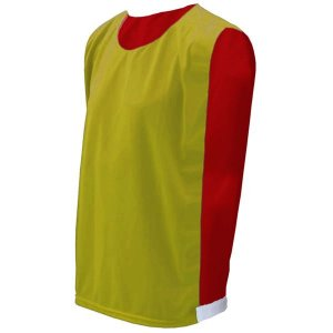 Colete de Futebol Dupla Face Amarelo com Vermelho
