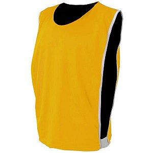 Colete de Futebol Dupla Face Dry Amarelo com Preto